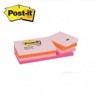 3M Post-it  653 FL Yapışkanlı Not Kağıdı 38 mm x 51 mm Pastel Tonları