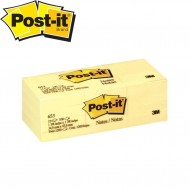 3M Post-it 653 Sarı Not Kağıdı 38mm x 51mm 100 Yaprak 12'Li Paket