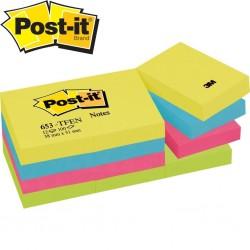 3M Post-it 653 TF Yapışkanlı Not Kağıdı 38 mm x 51 mm Tutti Frutti Pem