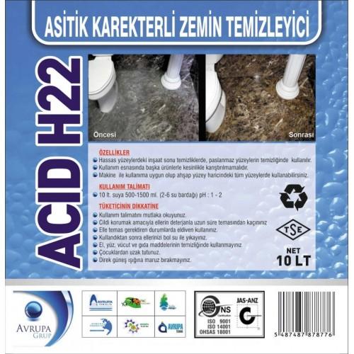 ACID H22 Asitik Karakterli ZeminTem.10 Litre