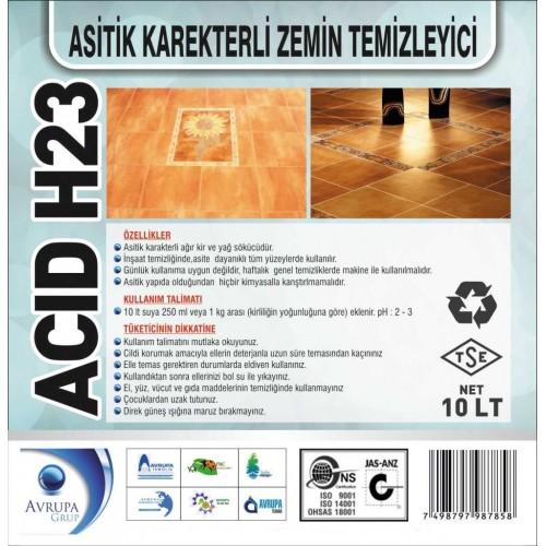 ACID H23 Asitik Karakterli ZeminTem.10 Litre