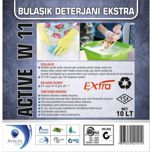 ACTİVE W11 Bulaşık Deterjanı  Ekstra 10 Litre
