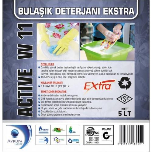 ACTİVE W11 Bulaşık Deterjanı  Ekstra 5 Litre