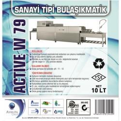 ACTİVE W79 Sanayi Tipi Bulaşık Mak.Deterjanı 10 Litre