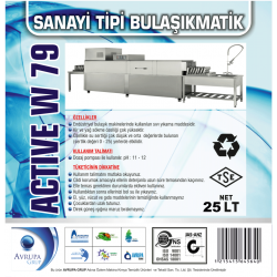 ACTİVE W79 Sanayi Tipi Bulaşık Mak.Deterjanı 25 Litre