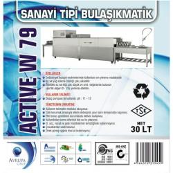 ACTİVE W79 Sanayi Tipi Bulaşık Mak.Deterjanı 30 Litre