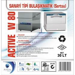 ACTİVE W80 San.Tipi Bulaşık Makinası Deterjanı 30 Litre