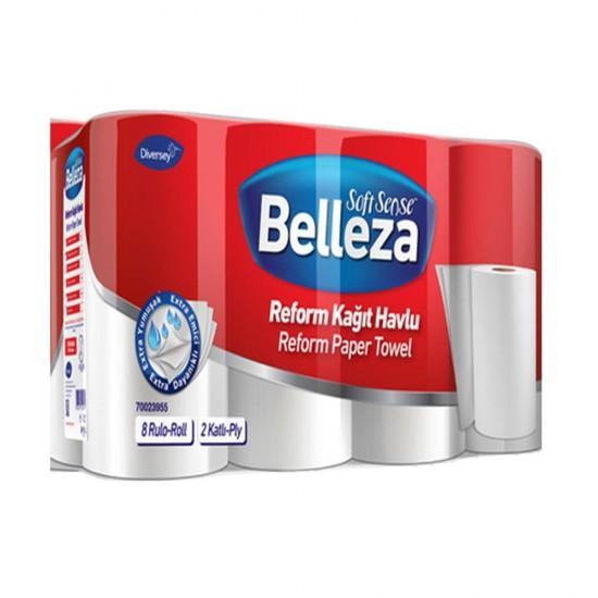 Belleza Reform Rulo Havlu 90 Yaprak 8 Li Paket