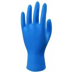 Beybi Nitril Muayene Eldiveni L Beden Mavi Renk Pudrasız 4 Lü Paket