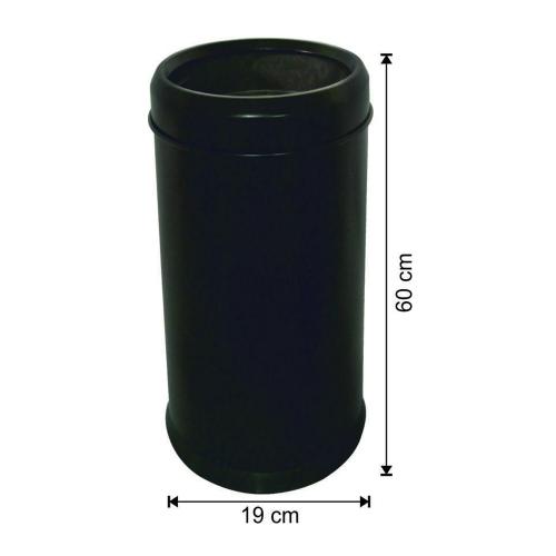 Boyalı Çöp Kovası Plastik Tabanlı Çemberli 18 Litre