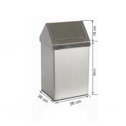 Çatı Kapaklı Çöp Kovası 100 Litre Paslanmaz