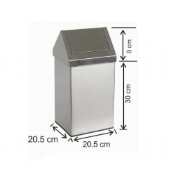 Çatı Kapaklı Çöp Kovası 11 Litre Paslanmaz