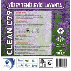 CLEAN C79 Yüzey Temizleyici Lavanta Kokulu 10 Litre