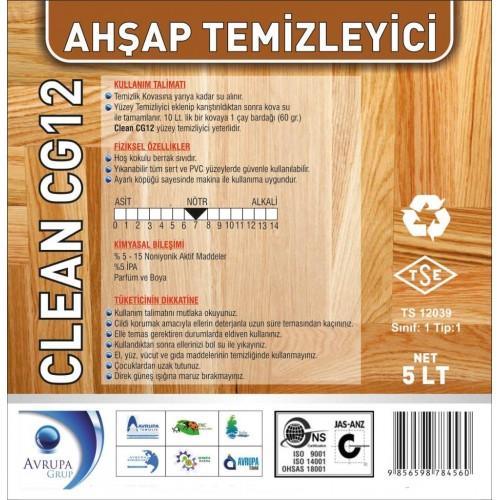 Clean CG 12 Ahşap Temizleme Ürünü 5 Litre