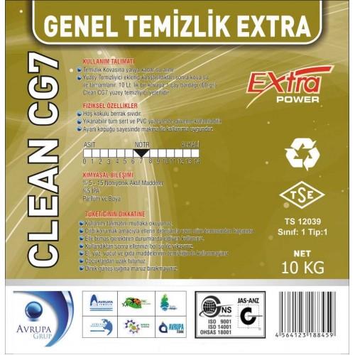 Clean CG7 Genel Temizlik Maddesi Ekstra 10 Litre