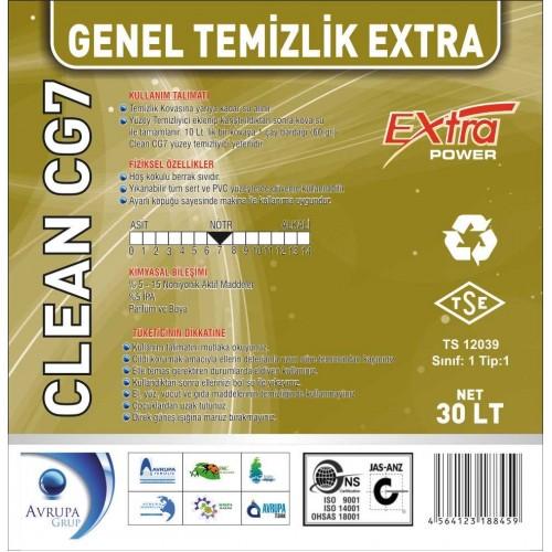Clean CG7 Genel Temizlik Maddesi Ekstra 30 Litre
