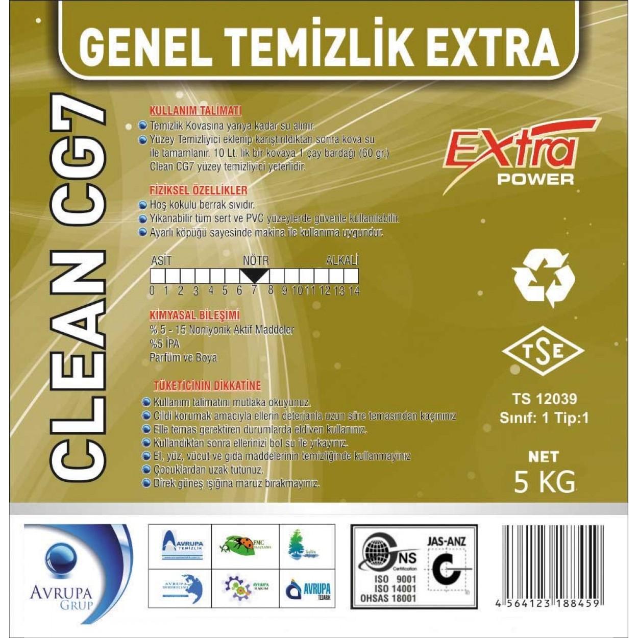 Clean CG7 Genel Temizlik Maddesi Ekstra 5 Litre