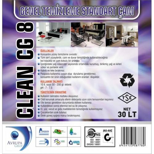 CLEAN CG8 Genel Temizlik Maddesi Çam Kokulu 30 Litre