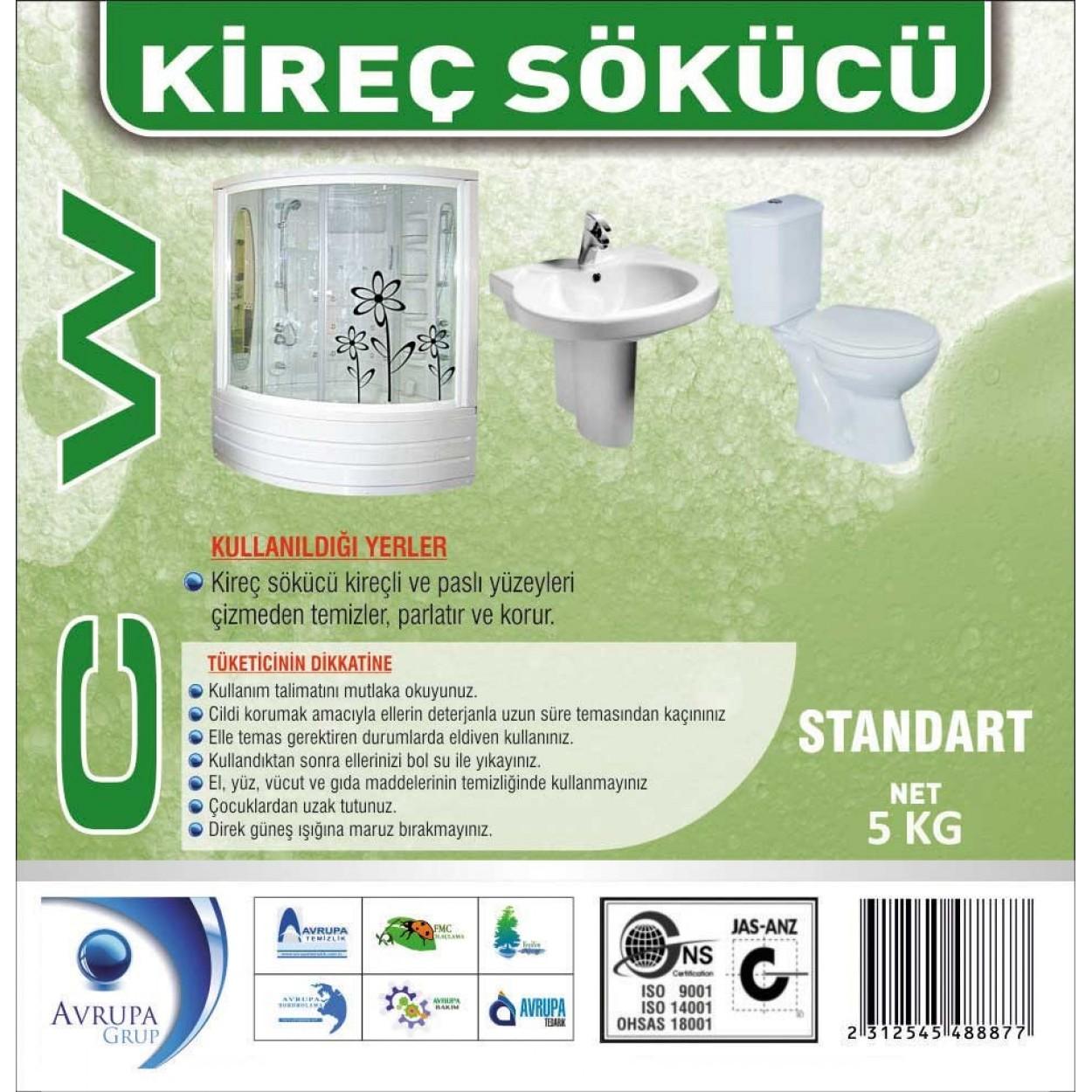 CW Kireç Çözücü / Banyo Temizleyicisi 5 Kg
