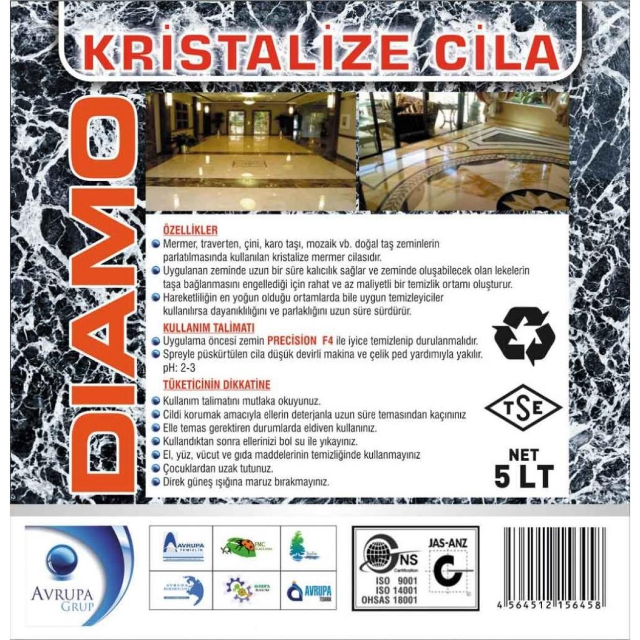 DIAMO Sıvı Kristalizasyon Cilası 5 Kg