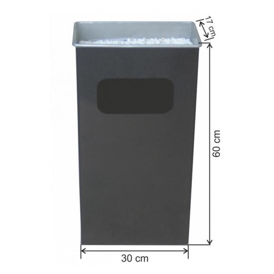 Dikdörtgen Küllüklü Çöp Kovası Boyalı 30 Litre