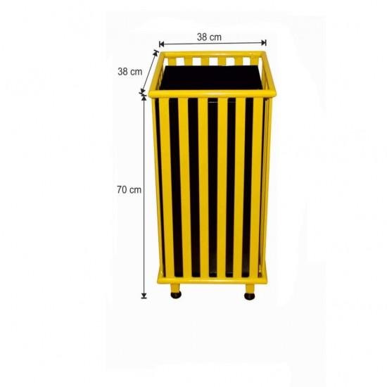 Dış Alan Çöp Kovası Kare Sarı Renk