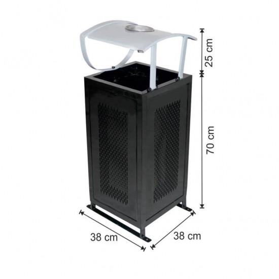 Dış Alan Çöp Kovası Metal Kovalı 54 Litre