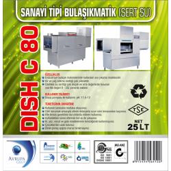 DISCH C80 San.Tipi Bulaşık Mak.Deterjanı 25 Litre