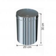Dokunmatik Kapaklı Çöp Kovası Paslanmaz 12 Litre