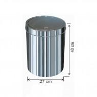 Dokunmatik Kapaklı Çöp Kovası Paslanmaz 23 litre