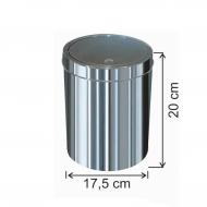 Dokunmatik Kapaklı Çöp Kovası Paslanmaz 3 Litre
