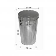Dokunmatik Kapaklı Çöp Kovası Paslanmaz 30 Litre