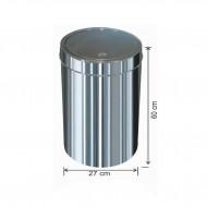 Dokunmatik Kapaklı Çöp Kovası Paslanmaz 34 litre