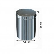 Dokunmatik Kapaklı Çöp Kovası Paslanmaz 5 Litre