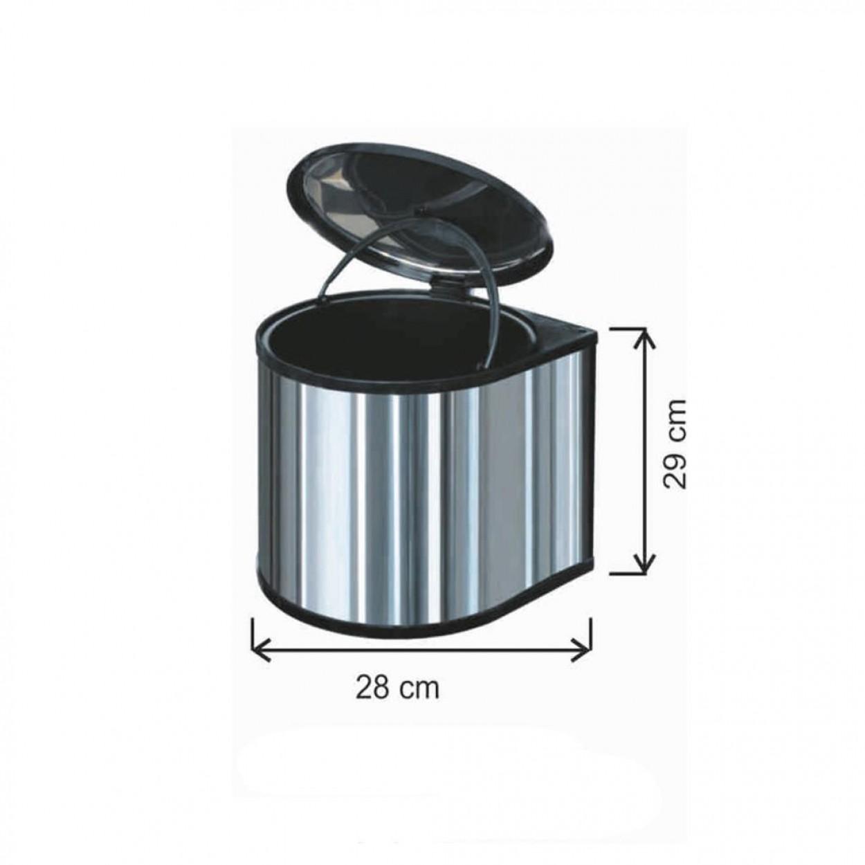 Dolap İçi Çöp Kovası 11 Litre Paslanmaz