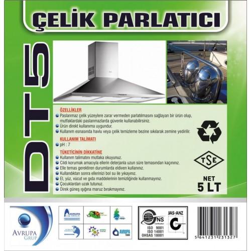 DT 5  Paslanmaz Çelik Parlatıcısı 5 Litre