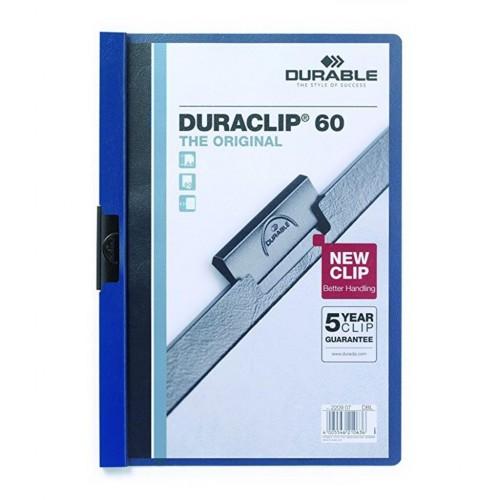Durable Duraclip 60 Sayfa Kapasiteli Sıkıştırmalı Dosya Mavi
