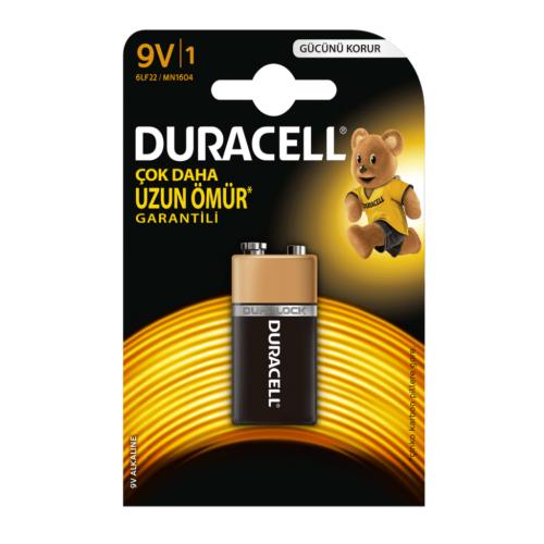 Duracell 9 Volt Alkalin Pil Tekli Paket