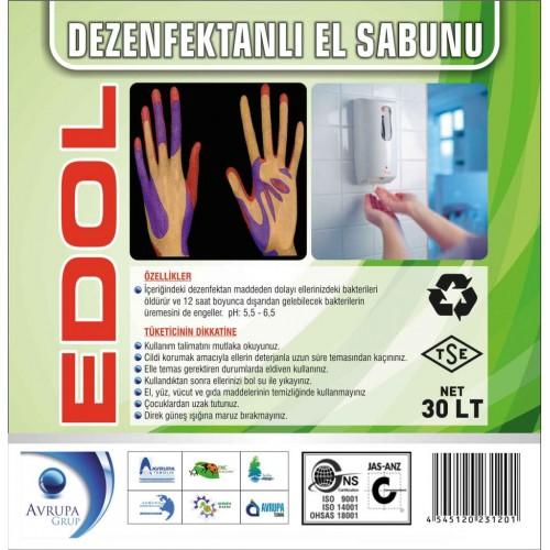 EDOL Dezenfekatnlı Sıvı El Sabunu 30 Litre