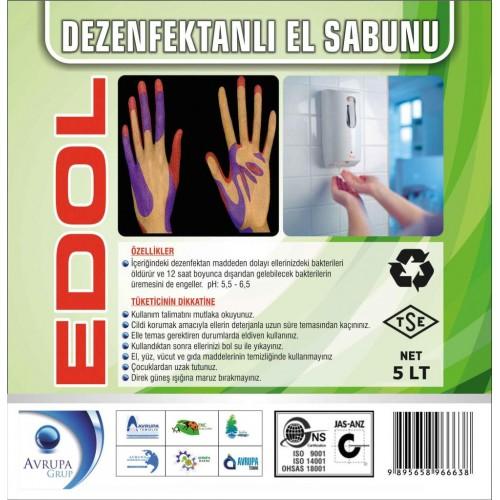 EDOL Dezenfekatnlı Sıvı El Sabunu 5 Litre
