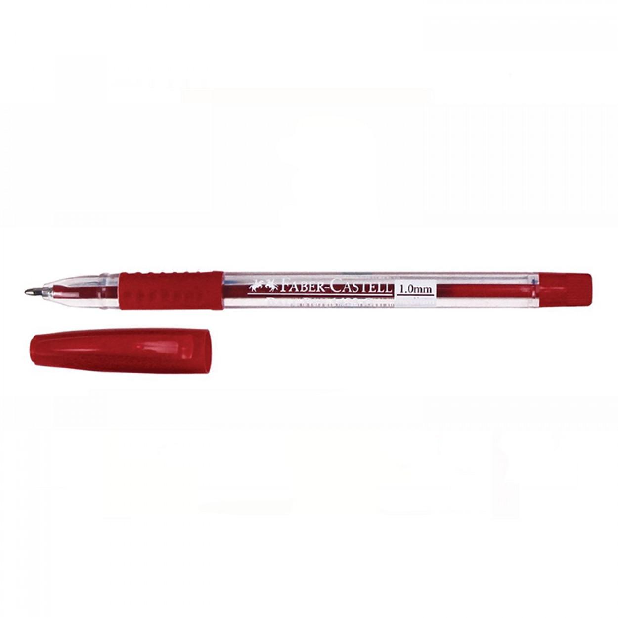 Faber-Castell 1423G Tükenmez Kalem 1.0mm 50'li Kırmızı