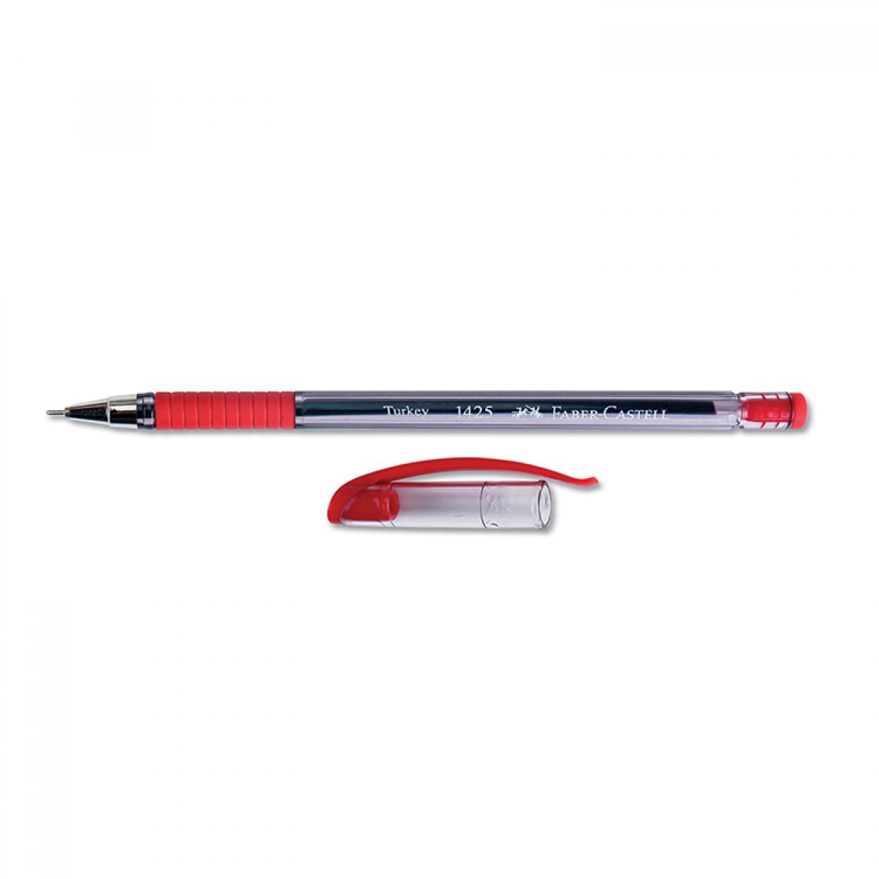 Faber-Castell 1425 Tükenmez Kalem İğne Uç 0.7 mm Kırmızı