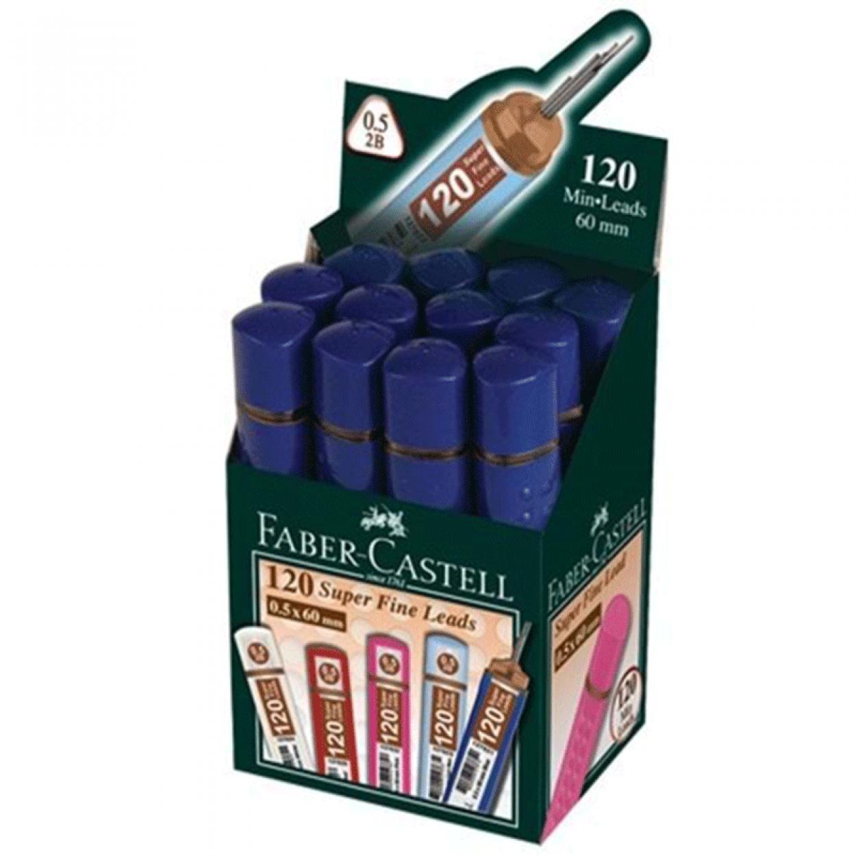 Faber Castell Super Fine Lead 2B 120'li 60mm 0.5 Uç 12 Li Paket