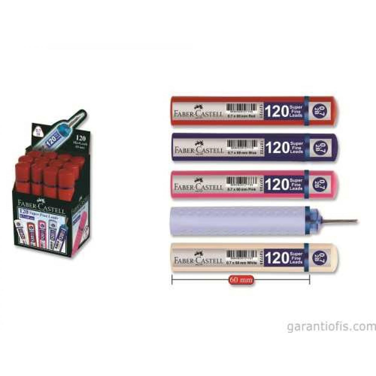 Faber Castell Super Fine Lead 2B 120'li 60mm 0.7 Uç 12 Li Paket