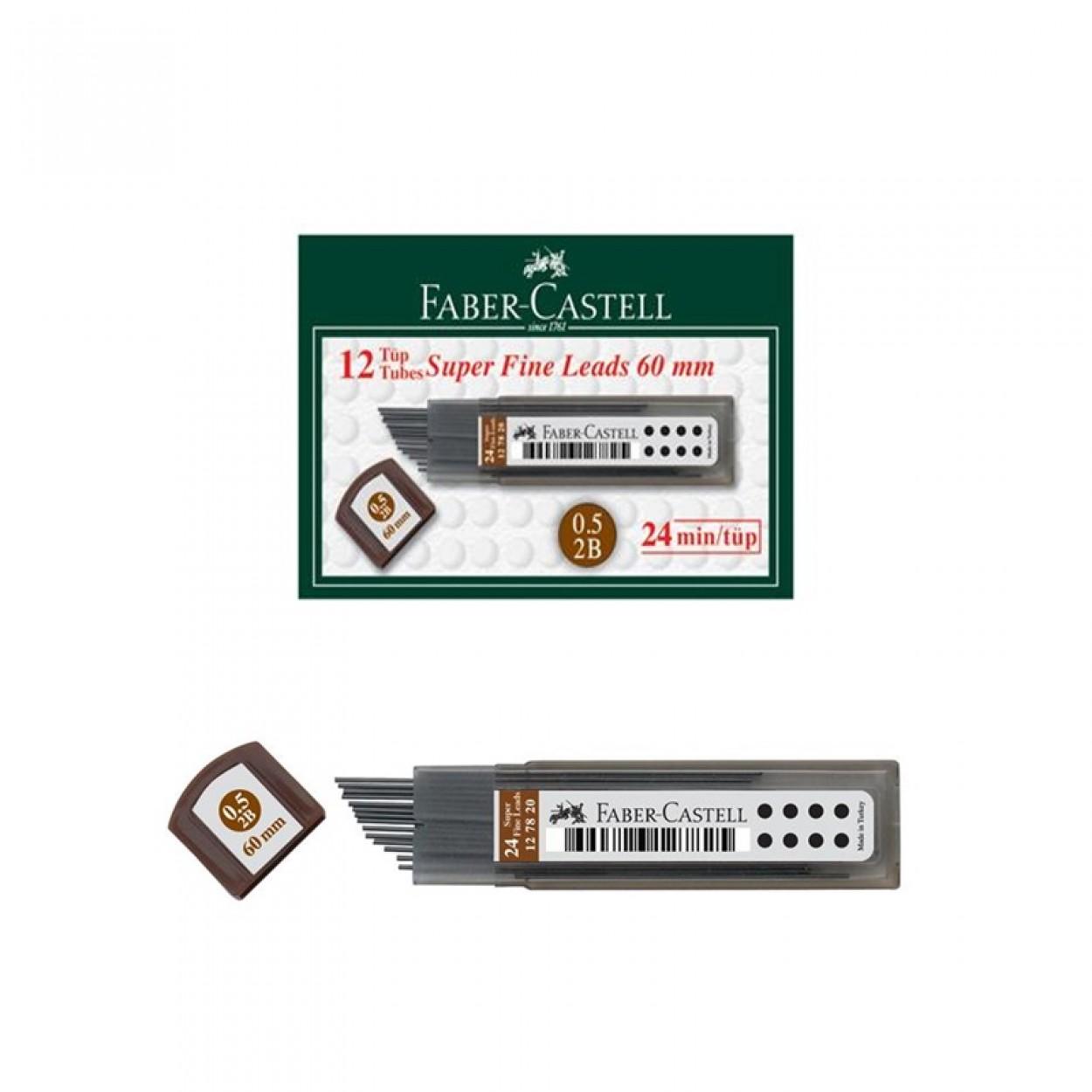 Faber-Castell Super Fine Lead 2B 60mm 0.5 Uç 12 Li Paket