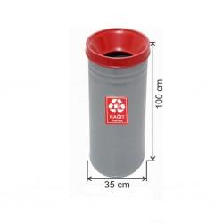 Geri Dönüşüm Çöp Kovası Boyalı 35*100 Kırmızı