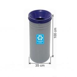 Geri Dönüşüm Çöp Kovası Boyalı 35*100 Mavi