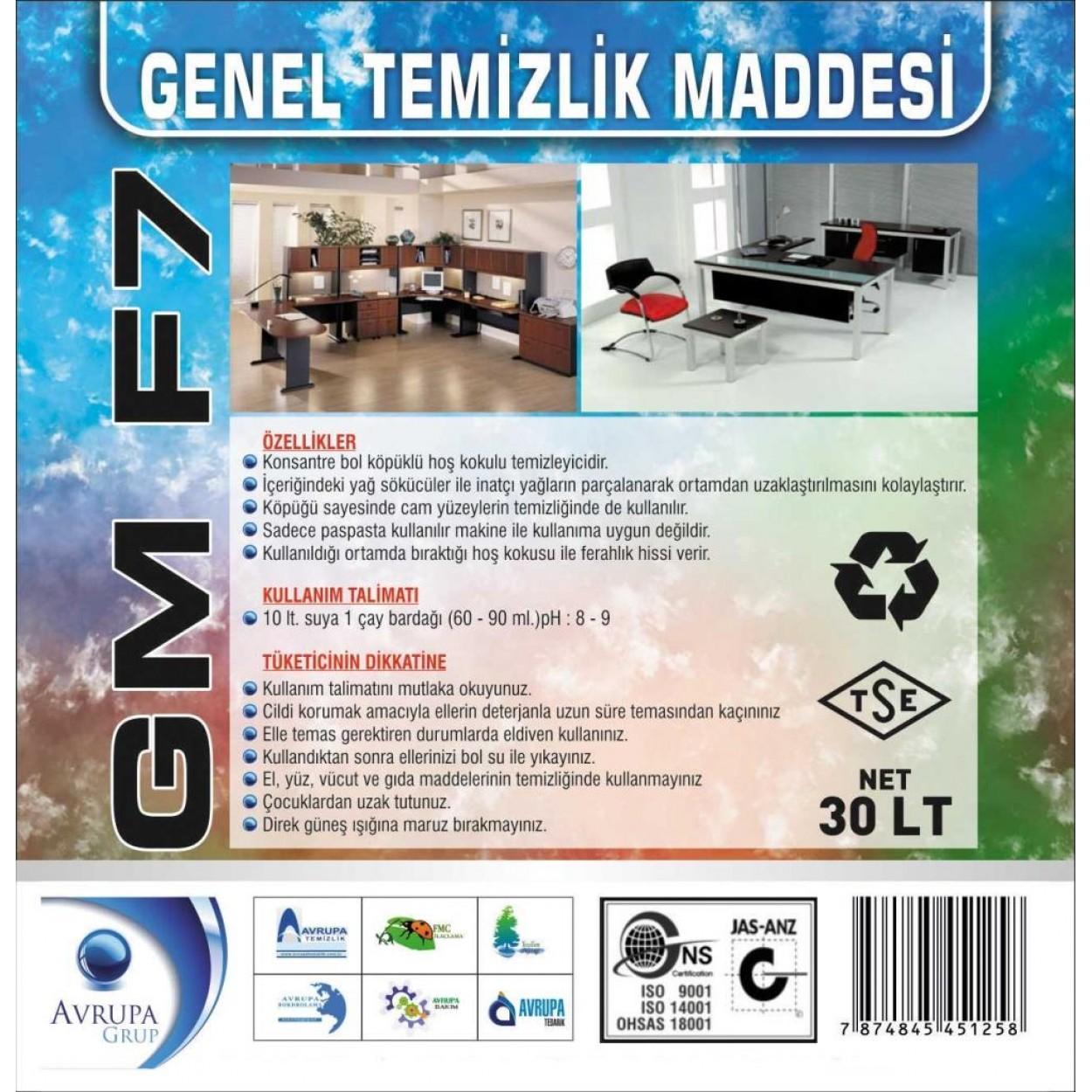 GM F7 Genel Temizlik Maddesi 30 Litre
