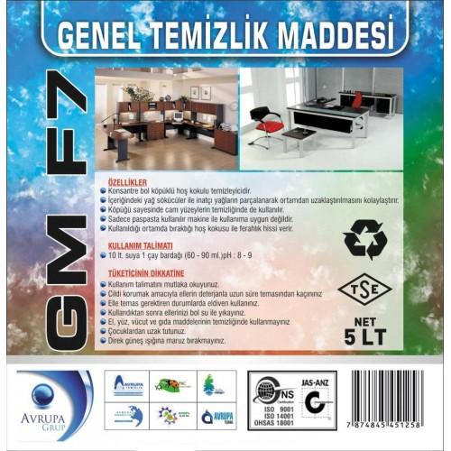 GM F7 Genel Temizlik Maddesi 5 Litre