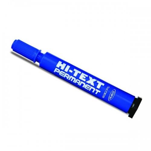 Hi-Text 830 PC Kesik Uçlu Koli Kalemi Mavi